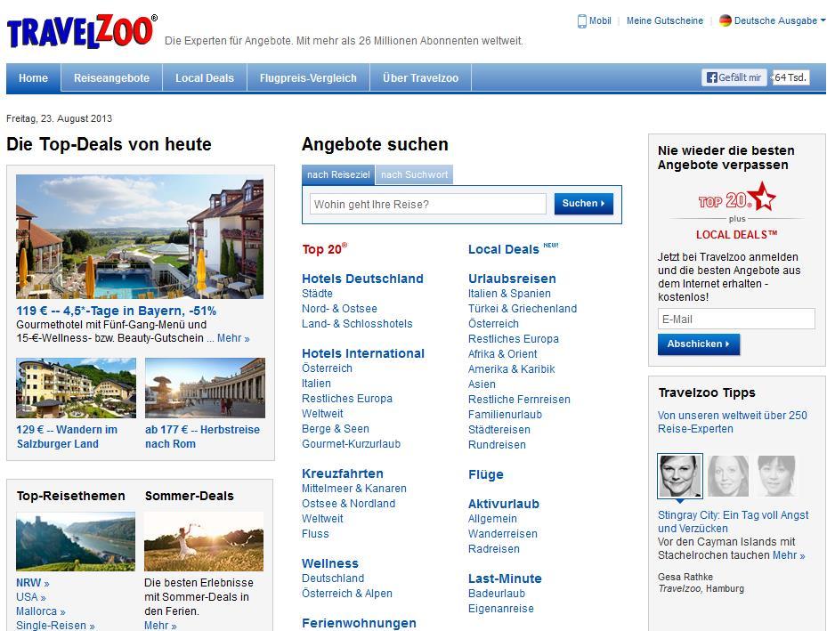 Travelzoo Rabattcode